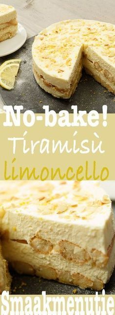 Tiramisu limoncello – Desserts and pies recipe Taste Menu … – Sweet Varieties Lemon Recipes, Sweet Recipes, Baking Recipes, Cake Recipes, Dessert Recipes, Dutch Recipes, Delicious Desserts, Yummy Food, Food Cakes