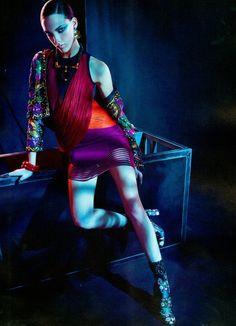 Clarice Vitkauskas sports eastern-inspired style for Elle Brazil July 2015 by Gustavo Zilbersztajn