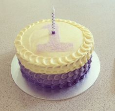 Purple ombre cake for Eloise's 1st birthday