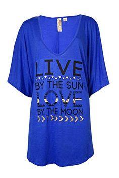 Miken Leaf Print V-Back Tassled Tunic Swim Cover Up Dress Sheer L New Teal