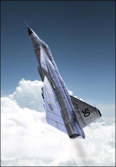 Saab viggen : Going up by ~rOEN911 on deviantART