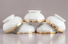 5 Bols café au lait vintage. Porcelaine CG par SoFrenchBrocante