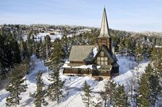 Holmenkollen Chapel is beautifully situated with stunning views over the city of Oslo, near the northern Nordmarka and the world famous Holmenkollen ski jump in Norway.