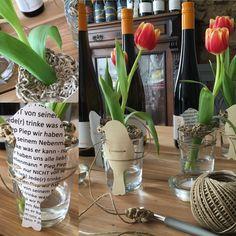Tischdeko Idee für den Frühling mal etwas anders ... #handmade #DIY #ostern #tabledecor #tischdeko #spring #springtime #eastern #winemaker #winery #riesling #werk2 #geisenheim #rheingau #winetasting #kulturlandrheingau #mywinemoment #ilikewine #tabledecor #tischdeko #weingutwerk2