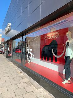 campaign event Coes Mammoth Clearance Event - campaign WHAT associates Ltd Window Graphics
