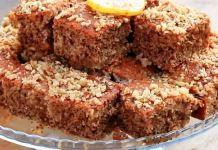 Κέικ με καρύδια (καρυδόπιτα) Meatloaf, Banana Bread, Desserts, Food, Tailgate Desserts, Deserts, Essen, Postres, Meals