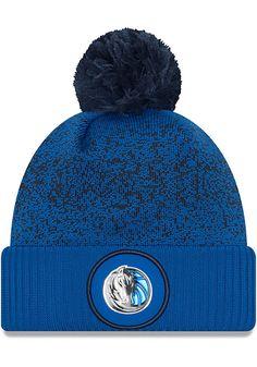 2d545789 New Era Dallas Mavericks Blue NBA17 On Court Mens Knit Hat New Era Cap, New