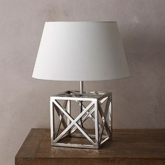 Tara Design Modern Handcrafted Eastern Inspired Silver Table Lamp