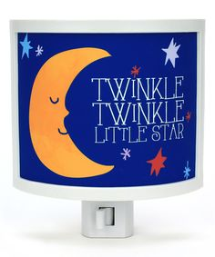 MADE IN USA.. 'Twinkle Twinkle' Moon Night-Light