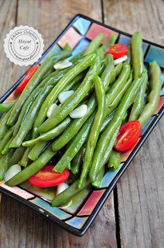 Zeytinyağlı Sirkeli Taze Fasülye Mezesi Dip, Cute Food, No Cook Meals, Bon Appetit, I Foods, Green Beans, Food And Drink, Vegetables, Cooking