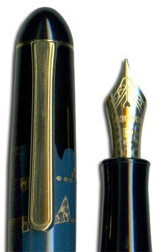 Platinum Blue Maki-e #56  Fountain Pen