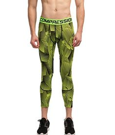 Showtime Mens Capri Compression Pants for Running Crossfit Gym Spinning * For more information, visit image link.(This is an Amazon affiliate link and I receive a commission for the sales)