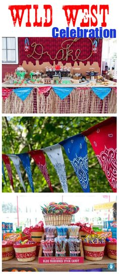 Cowboy/Cowgirl Party- ADORABLE www.backyardimagination.com