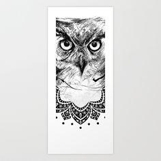 Owl Art Print by Antreas Moyseos - $33.28