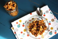 Pumpkin Granola - This recipe uses Pumpkin puree I can't wait to try it.