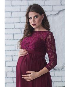 Evening dress for pregnant women .The model with a high waist line designed especially for expectant mothers - regardless of the time the product sits perfectly on the figure. The lace bodice is combined with a light chiffon. Under bust band that ties at the back of the bow. Moreover, you will be able to wear a dress and after childbirth.  For more Maternity Dress, click: https://www.etsy.com/ru/shop/Dioriss?ref=l2-shop-info-name&section_id=19198173  For...