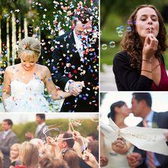 alternatives to rice toss Wedding Rice, Wedding Confetti, Fantasy Wedding, Dream Wedding, Wedding Stuff, Wedding Day Inspiration, Wedding Ideas, Wedding Bubbles, Newlyweds