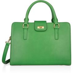 J.Crew Edie Attaché leather tote ($440) ❤ liked on Polyvore
