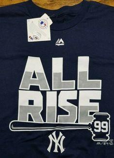 91eee13df New York Yankees MLB shirt All Rise Aaron Judge 99 Adult XL Blue Baseball NY  NWT