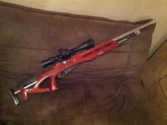 Tricked out Mosin Nagant.