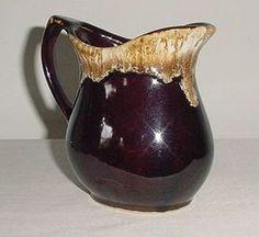 Nice Vintage Milk Pitcher Creamer R.R.P. Co. Brown Drip Glaze Roseville U.S.A.