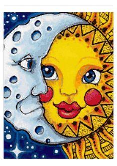 Precioso gráfico de sol y luna... Cedido por Karme