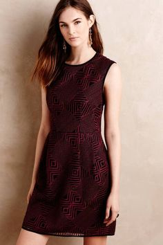 Geo Lace Dress by Nanette Lepore #anthrofave #anthropologie