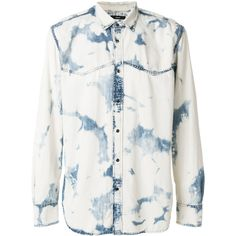 Diesel d-planet marbled denim shirt (300 AUD) ❤ liked on Polyvore featuring men's fashion, men's clothing, men's shirts, men's casual shirts, blue, mens marble shirt, diesel mens shirts, mens denim shirt and mens galaxy shirt