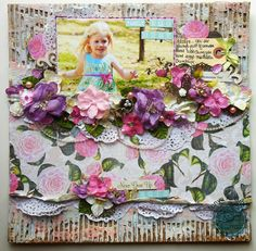 """What a pretty Spring layout created by the Marion Smith DT and Tonya Gibbs ... It features the """"Motley"""" papers and our new Spring Botanica flowers."""