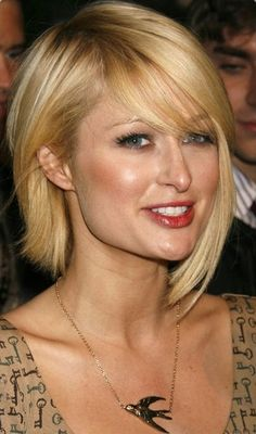 Parted Long Bob Hairstyle