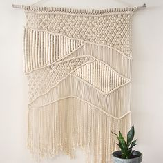 Macrame Wall Hanging custom by Chicago based macrame artist Amy Zwikel Studio. Check out her website for more info, ready made macrame wall hangings, plant hangings, class lists and DIY kits.