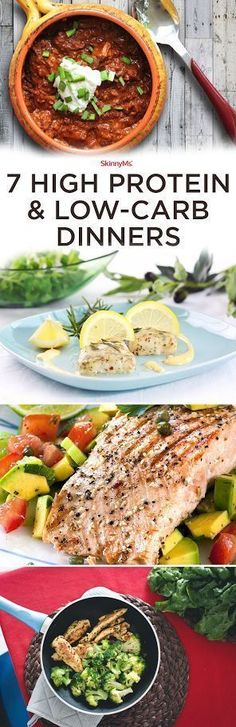 Try these 7 High-Protein Low-Carb Dinners! Perfect for the whole family! #skinnyms #lowcarb #highprotein