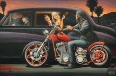 """Ladies Love Outlaws"" - Limited Editions - All Artwork - David Mann - Rally Fine Art | Fine Art World"