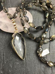Crystal Quartz & Labradorite Necklace