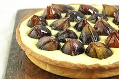 Caramelized Fig, Raspberry Jam and CrèmeMousseline Tart from Grace's Sweet Life http://gracessweetlife.com