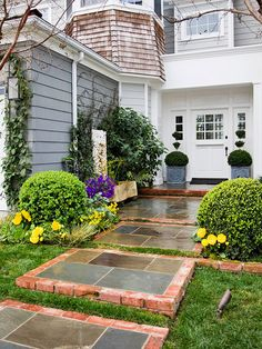 Replacing old walkways is a great way to boost your home's curb appeal: http://www.bhg.com/home-improvement/exteriors/curb-appeal/curb-appeal-on-a-dime/?socsrc=bhgpin011015replaceoldwalkways&page=5