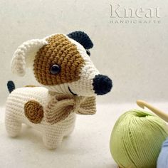 The cutest puppy in the world! Pattern by Pica Pau Made by Kneat Handicrafts. Cutest Puppy, Handicraft, Cute Puppies, Dinosaur Stuffed Animal, Anna, Crochet Hats, Toys, Pattern, Handmade