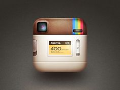 back of the instagram icon - I don't understand why the photo of this icon is trending so much online - its cool