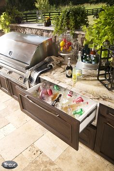 Take the party outside this year. With the new Trex Outdoor Kitchens, Cabinetry and Storage collection, backyard entertaining has never been easier. #outdoorentertaining #outdoorliving #backyard #deck #patio #porch  http://www.trex.com/products/decor-and-furniture/outdoor-kitchens/