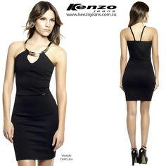 Inicia la semana con un #look impecable y moderno, con un vestido negro ideal para la oficina #KenzoJeans www.kenzojeans.com.co