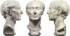 Now famous, a marble bust from Tusculum has been identified as that of Caesar by the typical saddle of the crown accentuated by the bold forehead, . Roman Currency, Gaius Julius Caesar, Emperor Augustus, Anthropologie, Marble Bust, Modern Portraits, 1st Century, Effigy, Many Faces
