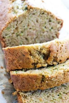 Used butter and added pumpkin pie spice. Can use later whole wheat flour and ground oats. Can purée zucchini. —This BEST EVER ZUCCHINI BREAD recipe comes from my grandma Healthy Bread Recipes, Zucchini Bread Recipes, Baking Recipes, Zucchini Desserts, Gluten Free Zucchini Bread, Recipe Zucchini, Healthy Meals, Cookie Recipes, Vegetarian Recipes
