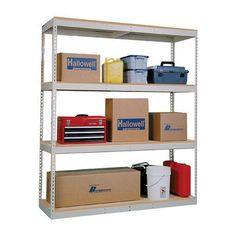 "Hallowell Double Rivet Boltless Decking Frame 84 Shelf Capacity: 600 lbs, Size: 60"" W x 30"" D"