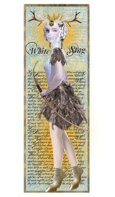 """White Stag Bookmark"" by alyssastar ❤ liked on Polyvore"