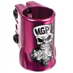 Madd Gear MGP - OVERSIZED Scooter Triple Clamp - Skull - PURPLE