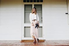 A dreamy sweater and maxi skirt combination.