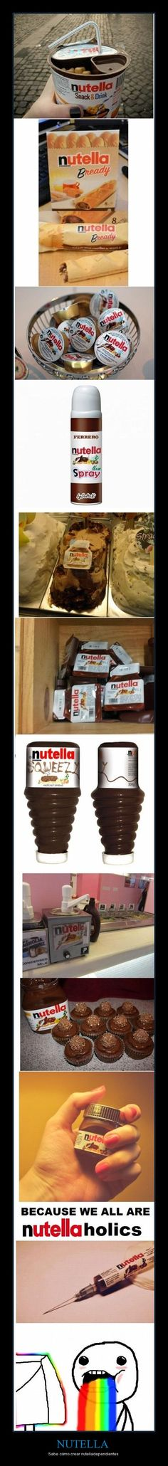 maybe I'll quit school and start importing these Nutella products...