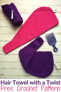 Put your hair up after your shower with this free crochet pattern.