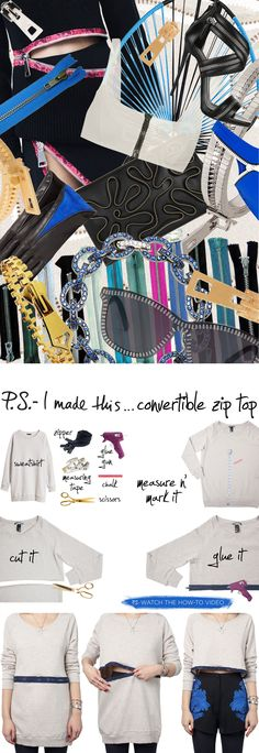 P.S.- I made this...Convertible Zipper Top #PSIMADETHIS