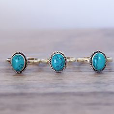 Sterling Silver and Oval Turquoise Ring Nail Jewelry, Cute Jewelry, Bling Jewelry, Body Jewelry, Jewelry Accessories, Bohemian Rings, Bohemian Gypsy, Turquoise Rings, Turquoise Stone